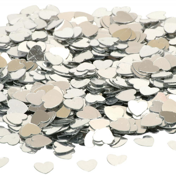Silver Hearts Table Confetti (14g)